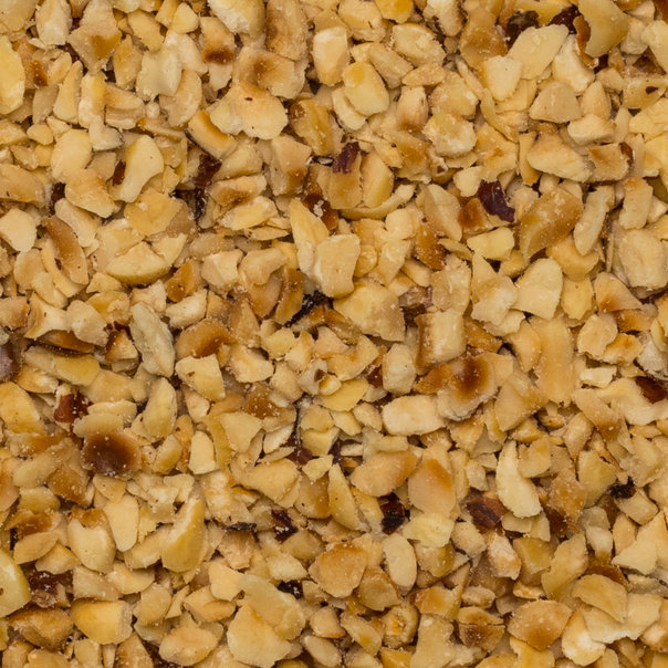 Hazelnut granella 2-4 mm toasted org. 25 kg