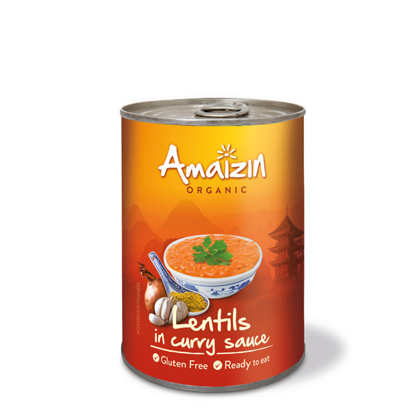 Amaizin Lentils in curry org. 6x420g