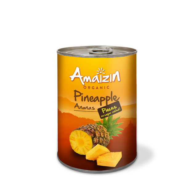 Amaizin Pineapple pieces org. 12x400g
