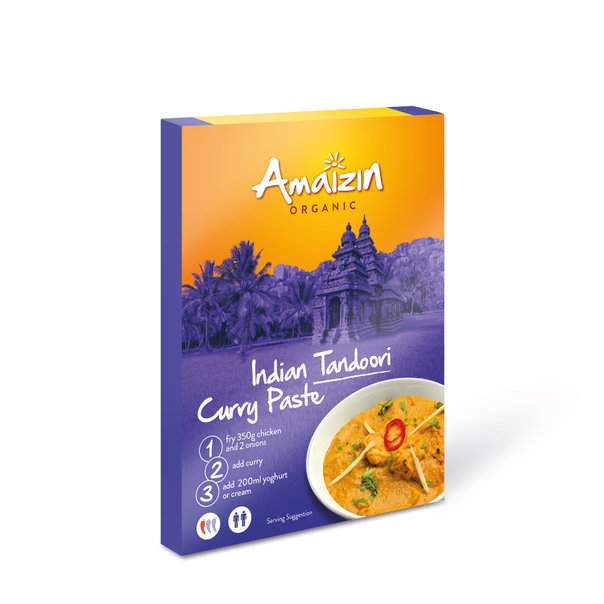 Amaizin Tandoori curry paste org. 12x80g
