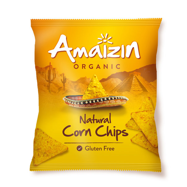 Amaizin Natural corn chips org. 10x150gr